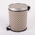 Круглый роскошный дизайн из искусственной кожи педаль для мусора (A12-1901A)