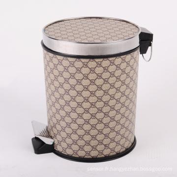 Poubelle de pédalier en similicuir de luxe de luxe (A12-1901A)