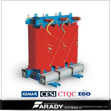 Transformateur électrique de type sec de 3000kVA 13.8kv