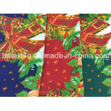 Printed Polyester Mini Matt Fabric for Christmas Table Cloth