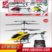 Cheap 2 canales helicóptero RC juguetes para niños juguetes de avión volador eléctrico