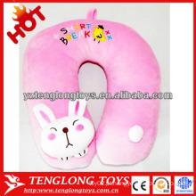 Coelhinho de pelúcia bonito coelho em forma de travesseiro de pelúcia de pelúcia rosa