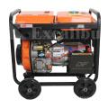 5KW power electric low fuel consumption open diesel generator set