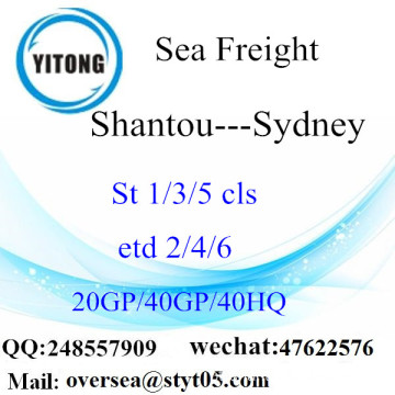 Shantou Port Sea Freight Shipping para Sydney