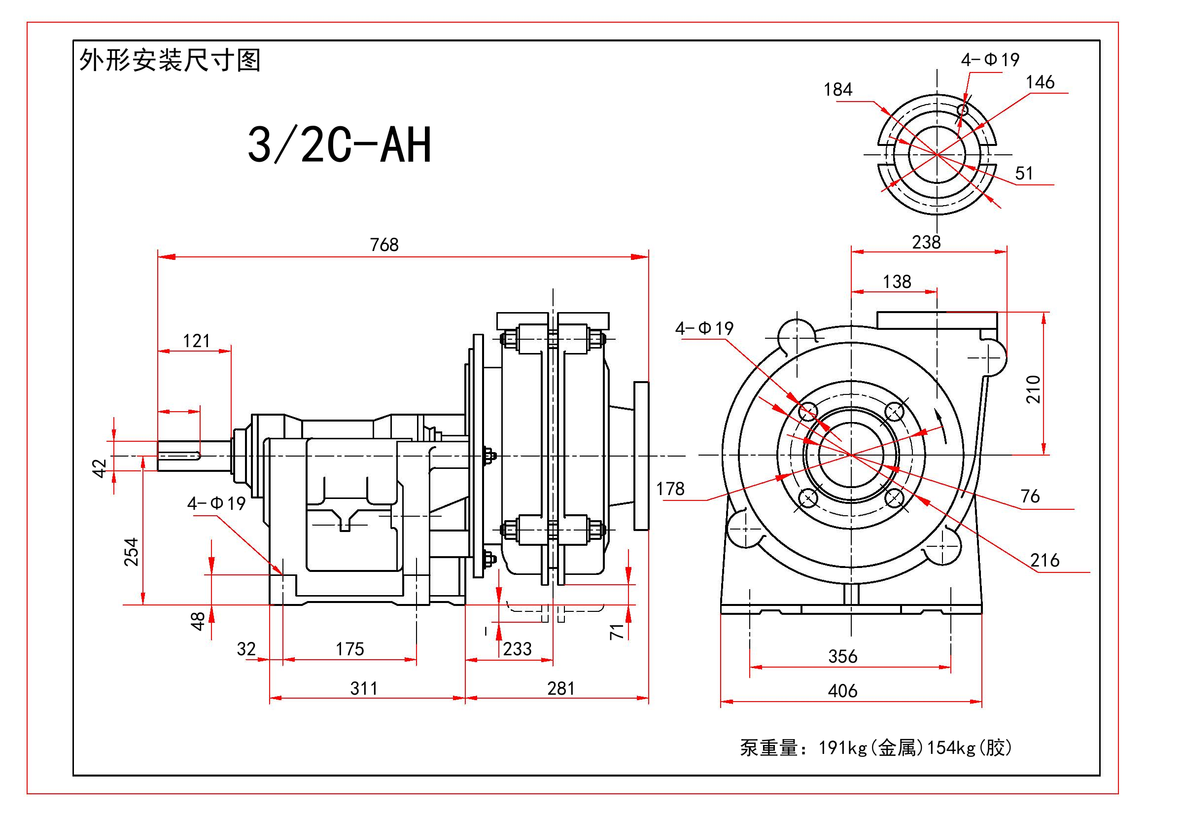 3/2C-AH Slurry Pump