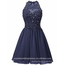 Sexy Alibaba Short O neck New Designer Chiffon Party Dresses Or Evening Dress LC04