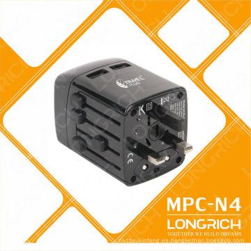 Adaptador de adaptador de viaje 110-240v OEM Adaptador de adaptador de logotipo universal para cargador de teléfono