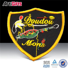 Cheap promotional embroidery patch sticker for clothing fabric