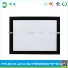 black framed dry erase writing board