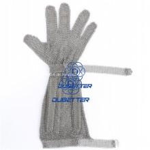 Chainmail Handschuhe aus rostfreiem Stahl mit langen Ärmeln