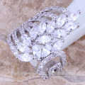 2018 novo cz dedo longo anéis de noivado indianos com nomes de alta margem de jóias