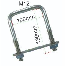 High precision Square U bolt  pipe clamp Carbon steel M12 U-Bolt