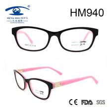 New Arrival Pink Frame Lady Acetate Eyeglasses (HM940)