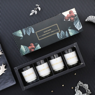 Black Paper Packaging Luxury Gift Candle Box
