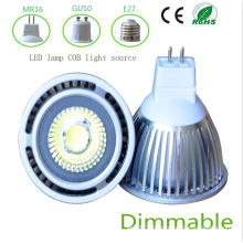 Dimmbale 5W White MR16 COB LED Light