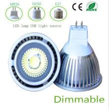 Dimmbale 5W White MR16 COB LED Light
