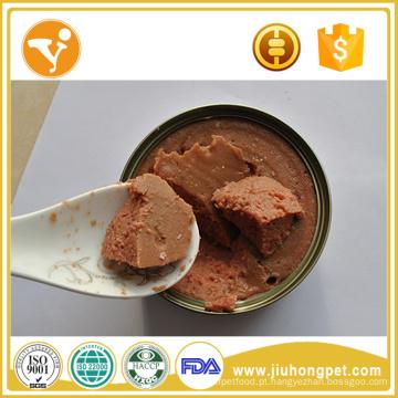 Alimentos para cães molhados Refeições para cães orgânicos Alimentos para cães com lata de sabor de carne