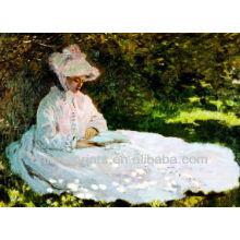 Home Decor Mulher pintura a óleo sobre tela