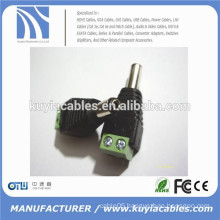 5.5x2.1mm CCTV DC Power Plug Male Removable Terminal Block Adapter Connector for CCTV Camera