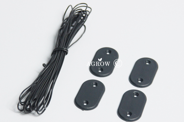 AGROW Plastic Net Clips with Wire