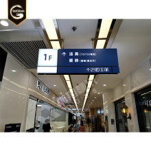 Rectangular Aluminium LED Direction Signs For Indoor