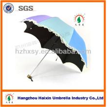 OEM et vente en gros nouvelle belle mode arc-en-ciel pliage parapluie