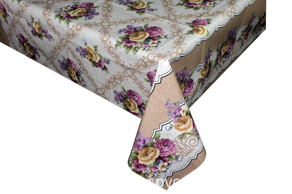 Plastic Rectangle Printed Tablecloth