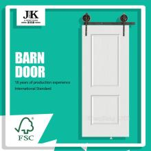 JHK 2 Panel Design White Barn Door