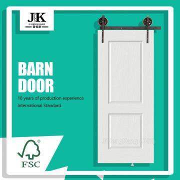 JHK-017-1 Finished Interior Barn Door White Barn Door Solid Barn Door