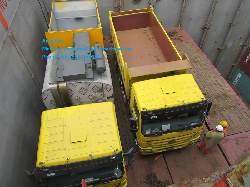Yellow color30-40T dump truck dari Sinotruk