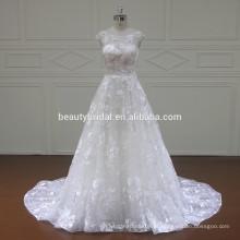 XF16068 mais novo design espartilho vestido de noiva de volta com applique de renda de luxo 2017