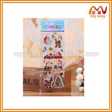 Promoção barata de adesivos de Natal, design diferente da impressão de adesivos para crianças