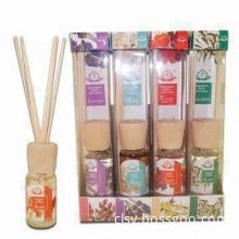 30mL Diffuser Oil, Set Includes 1 Piece Wooden Cap with Paper Covers, Measures 3.5 x 3.5 x 20.5cm
