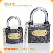FASHION !!!!! impermeável plástico pintado grey ferro cadeado com preço barato alta qualidade