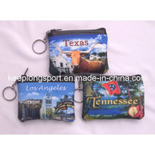 Customized Sublimation Printing Small Neoprene Coin Cases
