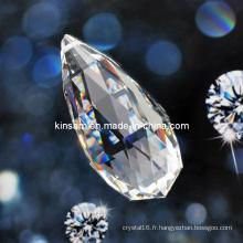 Pièce de lustre en cristal clair et perle