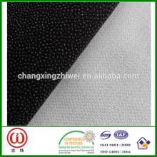 75D * 100D changxing huzhou tela 100% poliéster cepillado interlínea