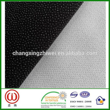 75D * 100D changxing huzhou 100% polyester stoff gebürstet interlining