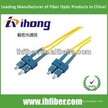SC Singlemode Duplex Fibre Optique Patch Cord fabricant avec une qualité élevée