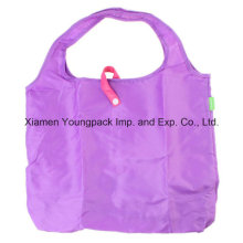 Réutilisable Eco Polyester Folding Folding Grocery Shopping Tote Bag