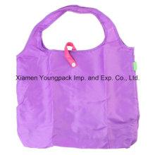 Poliester Eco reutilizable plegable bolsa de compras plegable de compras