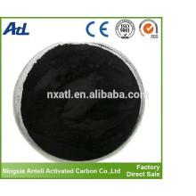 carbón activado de madera de grado alimenticio polvo de carbón activado