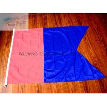 100% poliéster dupla poligonal coloridas bandeiras