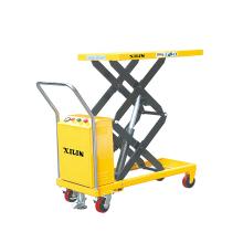 Xilin 350kg double scissor semi electric high lift table mechanism electric