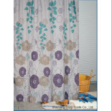 Flowers Design Fabric Bathroom Shower Curtain