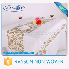 Toalhas de mesa bege baratas por atacado da cor branca para o banquete de casamento
