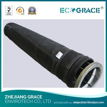 Bolsa de filtros de aire de tela de fibra de vidrio de filtración industrial