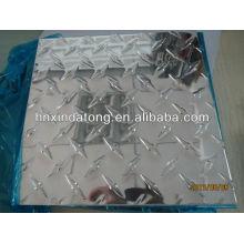 lámina de aluminio brillante patrón de diamante