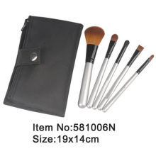 5pcs travel makeup brush kit with canvas case