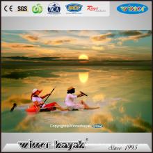 Sieger sitzen auf Top 100% transparente PC Kajak Kanu Vue-1